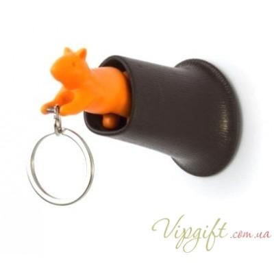 Ключница настенная и брелок для ключей Squirrel Qualy Оранжевый