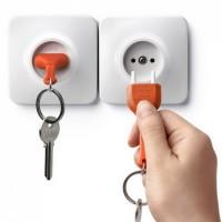 Ключница настенная и брелок для ключей Unplug Qualy Оранжевый