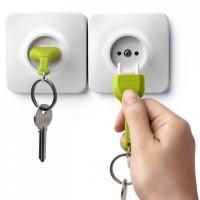 Ключница настенная и брелок для ключей Unplug Qualy Зеленый