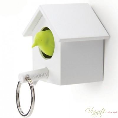 Ключница настенная и брелок для ключей Cuckoo Qualy Белый