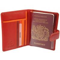 Обложка для паспорта Visconti RB75 - Sumba red multi