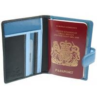 Обложка для паспорта Visconti RB75 - Sumba blue multi