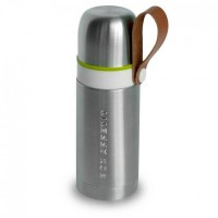 Термос стальной Thermo Flask Black+Blum Серебристый с зеленым