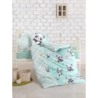 Постельное белье Cotton Box для новорожденных Panda Mint
