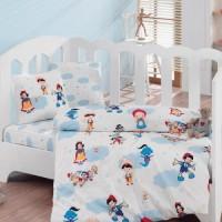 Постельное белье Cotton Box для новорожденных Masal Dunyasi Bordo