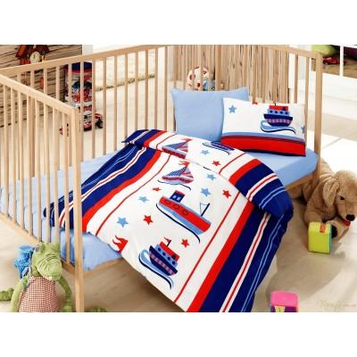 Постельное белье Cotton Box для новорожденных Denizci Mavi