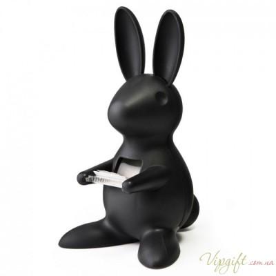 Диспенсер для скотча Desk Bunny Qualy Черный