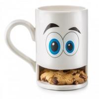 Чашка с отделением для печенья Monster Cookie Cup Donkey Белая