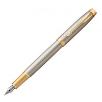 Перьевая ручка Parker IM 17 Premium Warm Silver GT