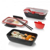 Ланч бокс прямоугольный Bento Box Black+Blum черно-красный