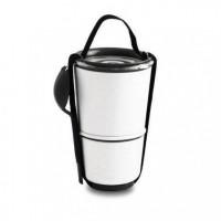 Контейнер Lunch Pot Black+Blum бело-черный