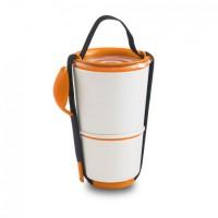 Контейнер Lunch Pot Black+Blum бело-оранжевый
