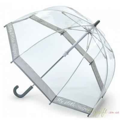 Детский зонт-трость прозрачный Fulton Funbrella-4 C605 My Little Helper