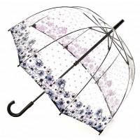 Женский зонт-трость прозрачный Fulton Birdcage-2 L042 - Flower Love