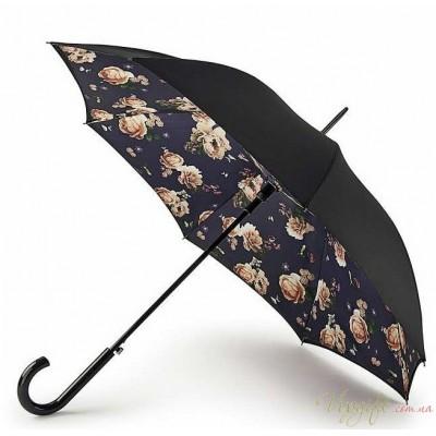 Женский зонт-трость Fulton Bloomsbury-2 L754 - Midnight Bloom