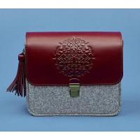Бохо-сумка BlankNote Лилу фетр+кожа виноград