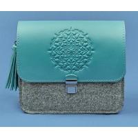 Бохо-сумка BlankNote Лилу фетр+кожа тиффани