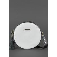 Круглая сумка BlankNote Tablet черно-белая