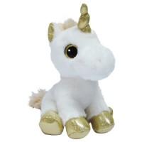 Мягкая игрушка Aurora Единорог золотой сияющие глаза 20 см