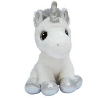 Мягкая игрушка Aurora Единорог Silver сияющие глаза 20 см