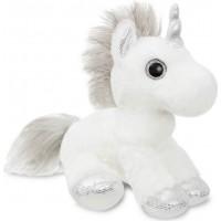 Мягкая игрушка Aurora Единорог Silver сияющие глаза 30 см