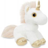 Мягкая игрушка Aurora Единорог Gold сияющие глаза 30 см