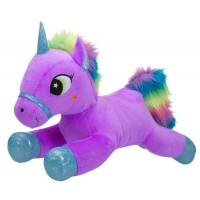 Мягкая игрушка Toy World Единорог Лиловый с радужной гривой 60 см