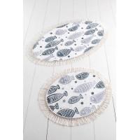 Набор ковриков Chilai Home FISH WHITE