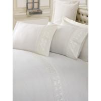 Комплект постельного белья Cotton box ранфорс с вышивкой EKRU