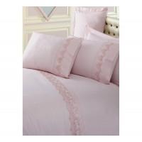 Комплект постельного белья Cotton box ранфорс с вышивкой PUDRA