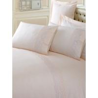 Комплект постельного белья Cotton box ранфорс с вышивкой CAPPUCCINO