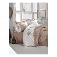 Комплект постельного белья с вышивкой 3D Cotton box MIRA BEJ