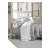 Комплект постельного белья с вышивкой 3D Cotton box DARE GRI