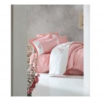 Комплект постельного белья с вышивкой 3D Cotton box SANTE PUDRA