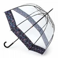 Женский зонт-трость прозрачный Fulton Birdcage-2 L042 - Luminous Floral