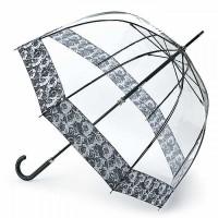 Женский зонт-трость прозрачный Fulton Birdcage-2 Luxe L866 Photo Rose