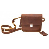 Женская кожаная сумка Dekey Эмма коньяк