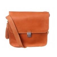 Женская кожаная сумка Dekey Эмма рыжая