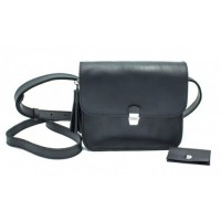 Женская кожаная сумка Dekey Эмма черный