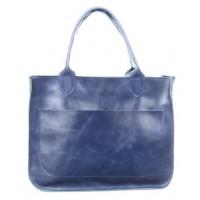 Женская кожаная сумка Перфекто Голубой Алькор