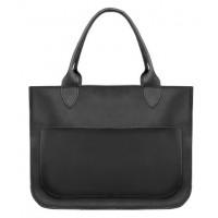 Женская кожаная сумка Перфекто черная