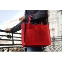 Женская кожаная сумка Перфекто Красная