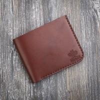 Маленький кожаный коричневый мужской кошелек MiroS