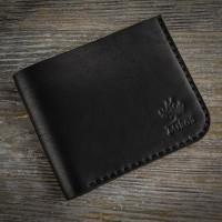 Черный кожаный мужской кошелек MiroS