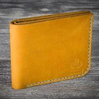Желтый кожаный мужской кошелек MiroS