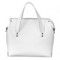 Женская белая кожаная сумка MiroS