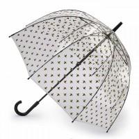 Женский зонт-трость прозрачный Fulton Birdcage-2 L042 Bumble Bees