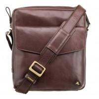 Мужская кожаная сумка Visconti ML36 Vesper A5 Brown