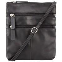 Мужская кожаная сумка Visconti Visconti 18606 Slim Bag Black