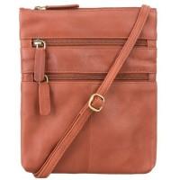 Мужская кожаная сумка Visconti Visconti 18606 Slim Bag Brown